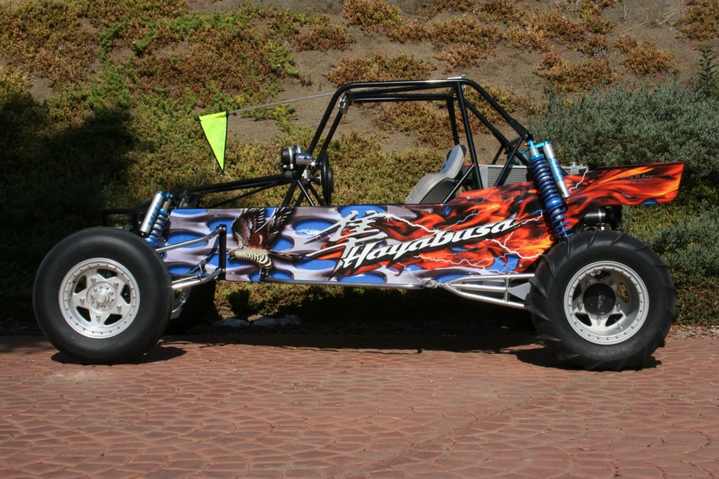 Sand Rail Trunk : Sand rail hayabusa powered buggy includes full wing